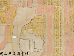 岡山城下之図