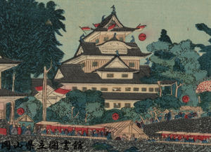 岡山城内博覧会図